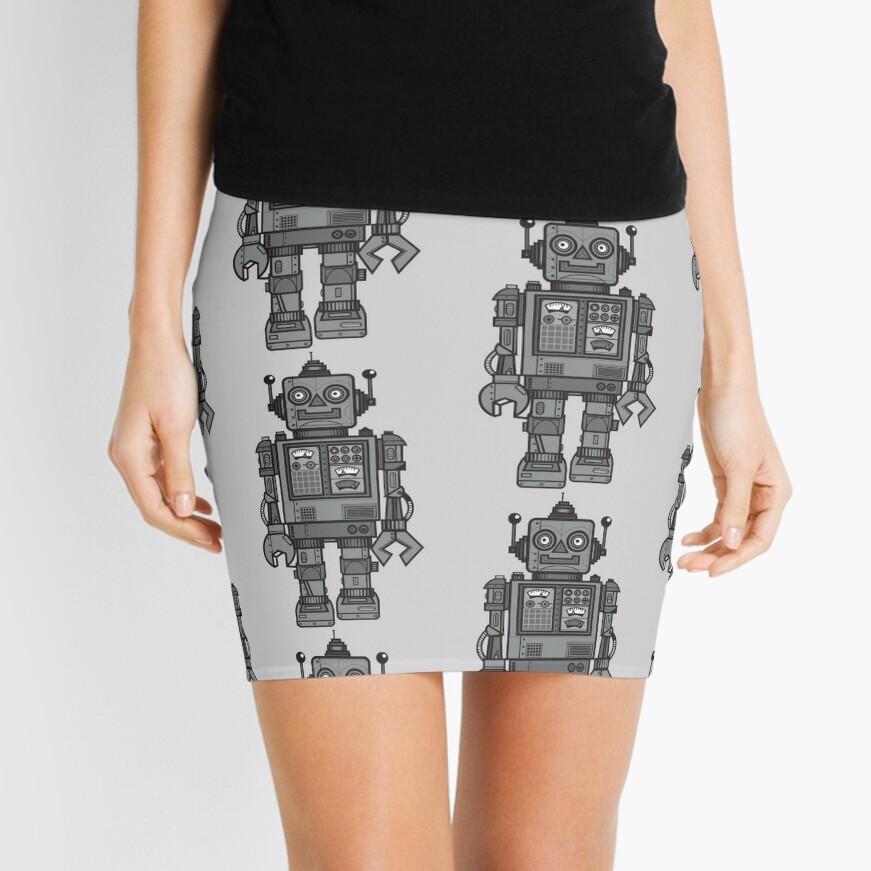Vintage Robot Mini Skirt