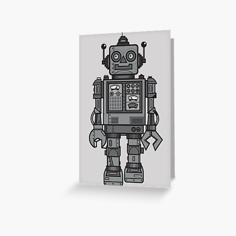 Weinlese-Roboter Grußkarte