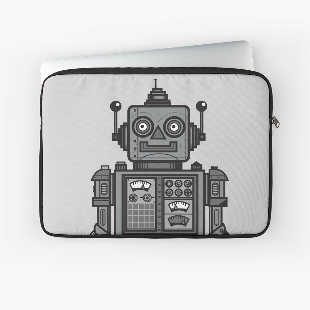 Weinlese-Roboter Laptoptasche