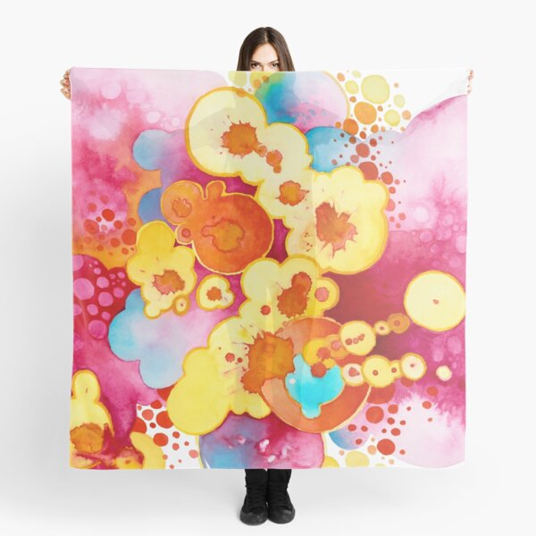 Boom! Everything - Watercolor Painting Scarf