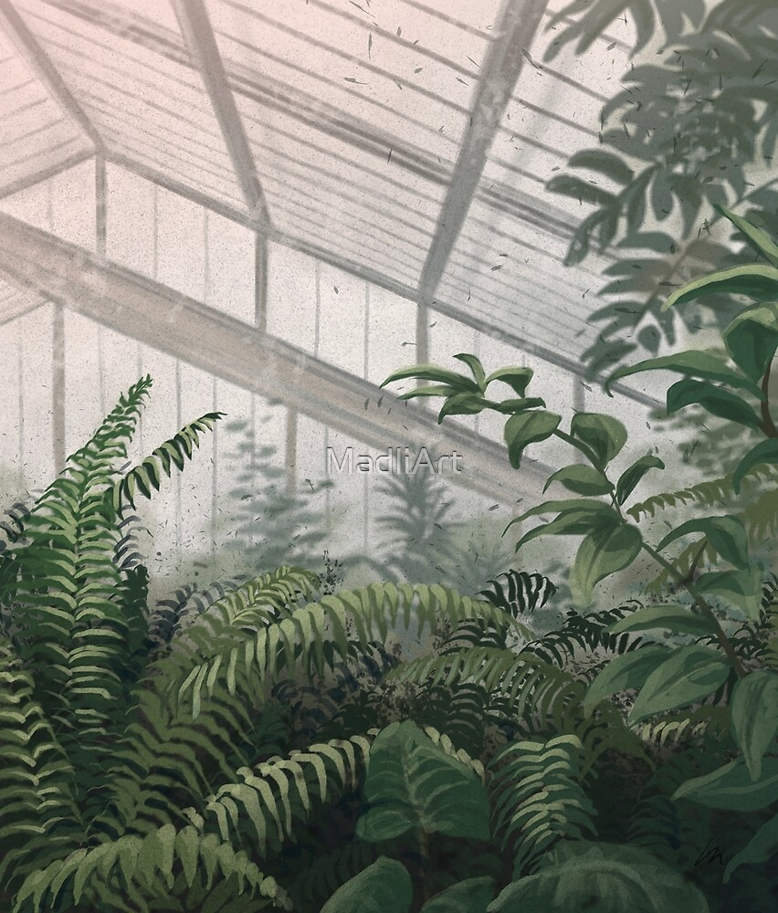 Greenhouse - digital painting by MadliArt