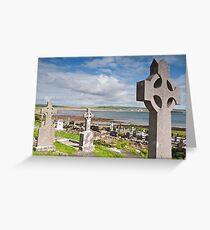 Burial Grave Site In Lahinch Liscannor County Clare Ireland Greeting Card