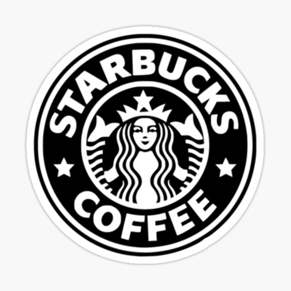 black starbucks logo Sticker