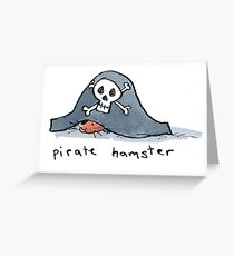 Pirate Hamster Greeting Card