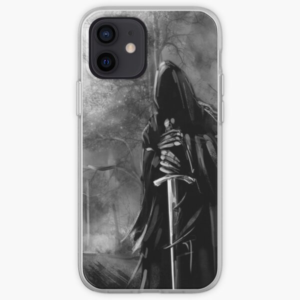 Nazgul Black Rider In Forest Coque souple iPhone