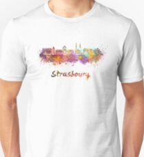 Strasbourg skyline in watercolor Unisex T-Shirt