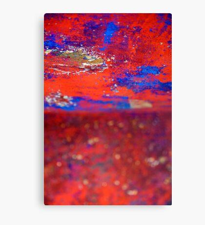 Red Blue wonderland Canvas Print