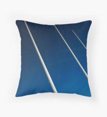 Flagpoles Throw Pillow