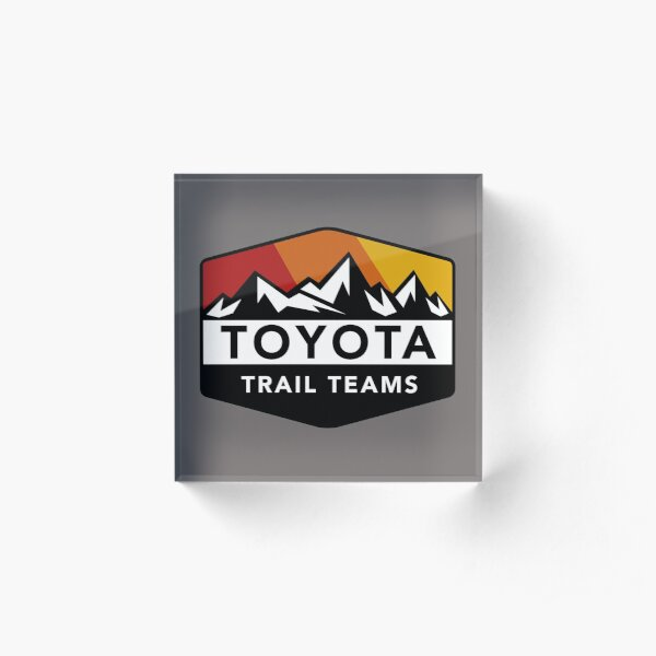 Toyota Trail Teams Colors Mountain Badge (no oficial) Bloque acrílico