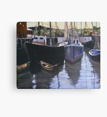 Boats at Gloucester Harbor  Canvas Print