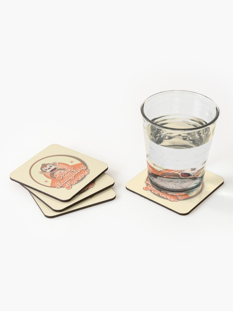 Alternate view of Keep Laughing Forever Retro Monkey Coasters (Set of 4)