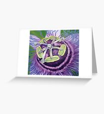 Vibrant Passion Flower Greeting Card