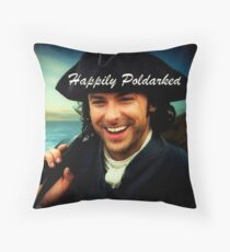 Ross Poldark in Cornwall Throw Pillow