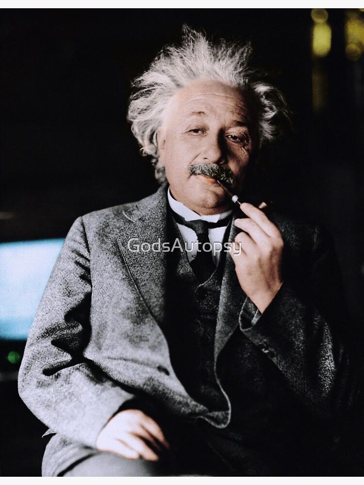 Albert Einstein Color s Pipe by GodsAutopsy