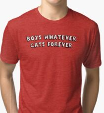 boys whatever cats forever Tri-blend T-Shirt