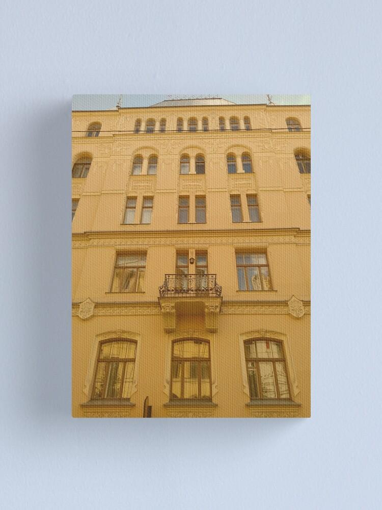 Alternate view of Art Nouveau architecture in Riga Canvas Print