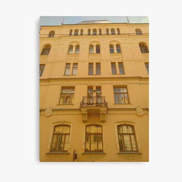 Art Nouveau architecture in Riga Canvas Print