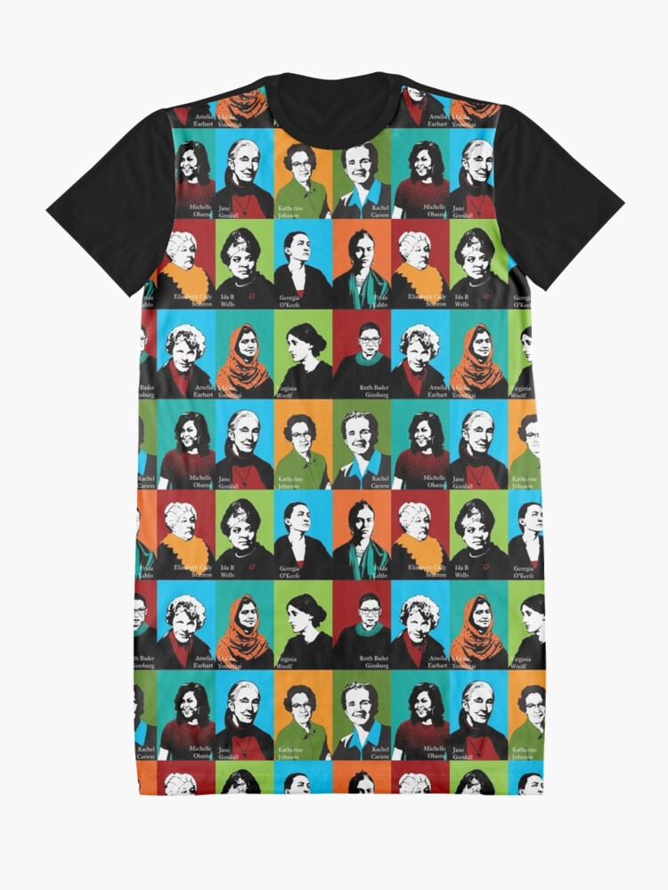 Alternate view of Feminist Icons Graphic T-Shirt Dress
