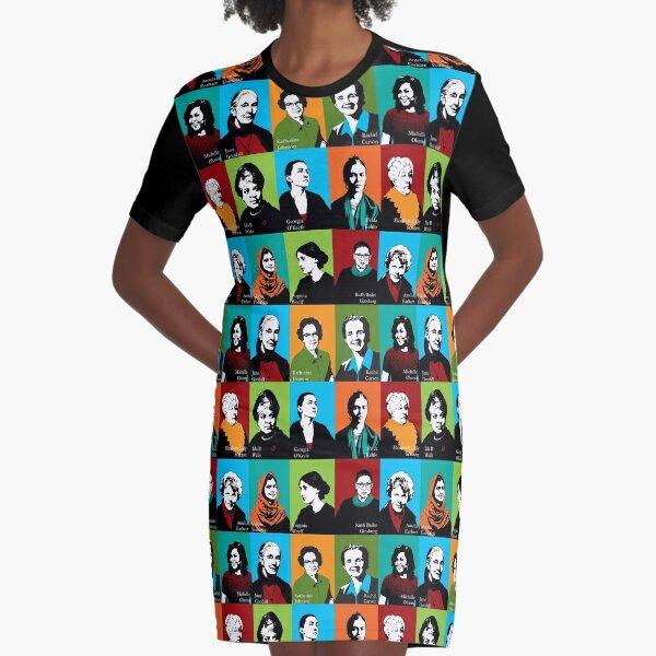 Feminist Icons Graphic T-Shirt Dress