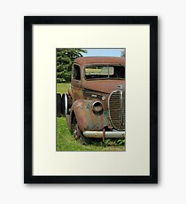 Rust Covered Antique Truck Framed Print