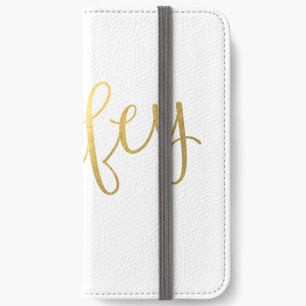 Wifey Faux Goldfolie iPhone Flip-Case