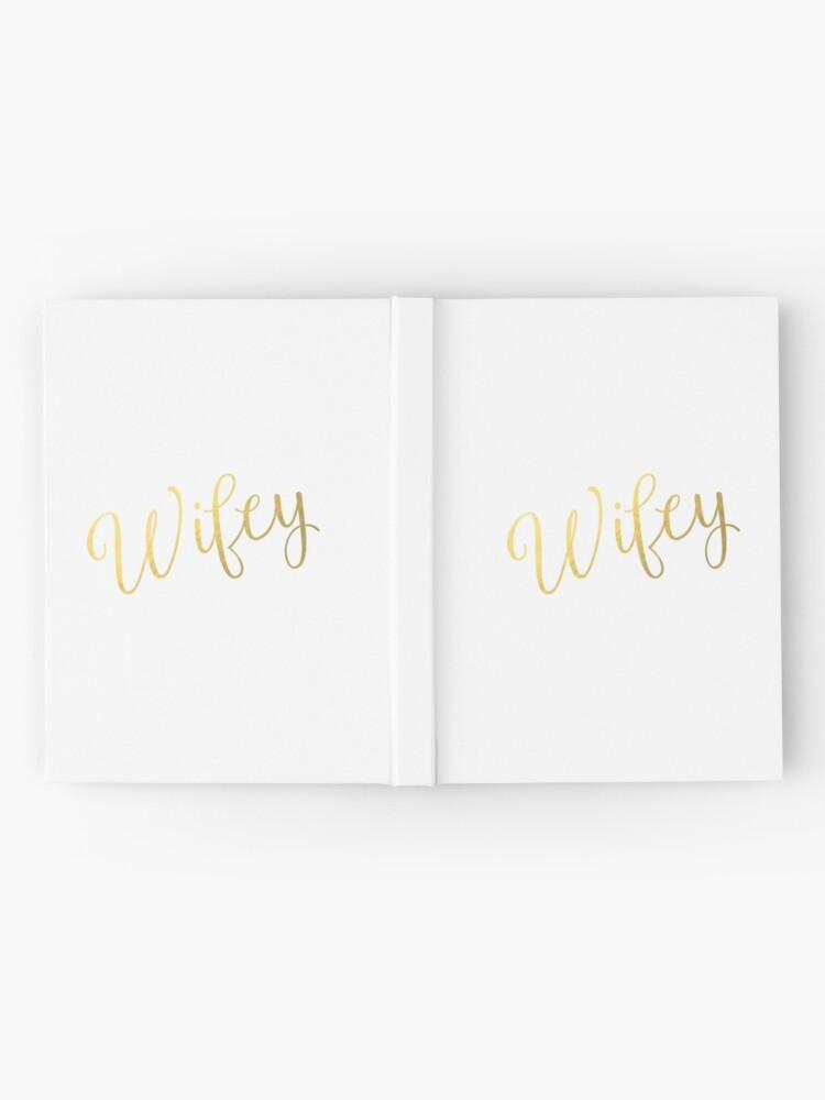Alternative Ansicht von Wifey Faux Goldfolie Notizbuch