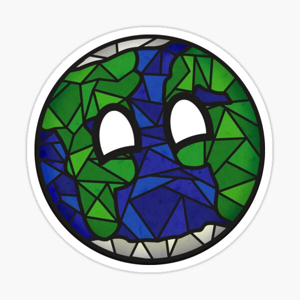 Stained Glass Earth Sticker
