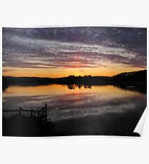 Reflections at Sunset. Kilmacolm, Scotland Poster