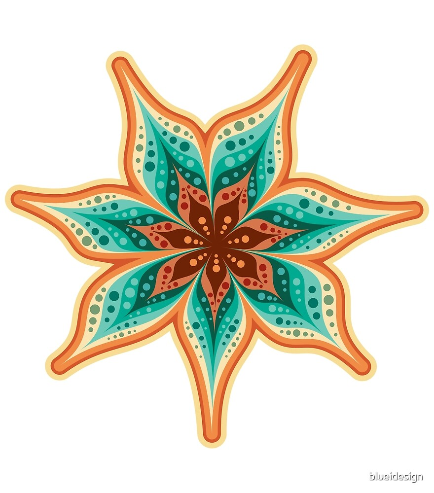 Boho Abstract Flower by blueidesign