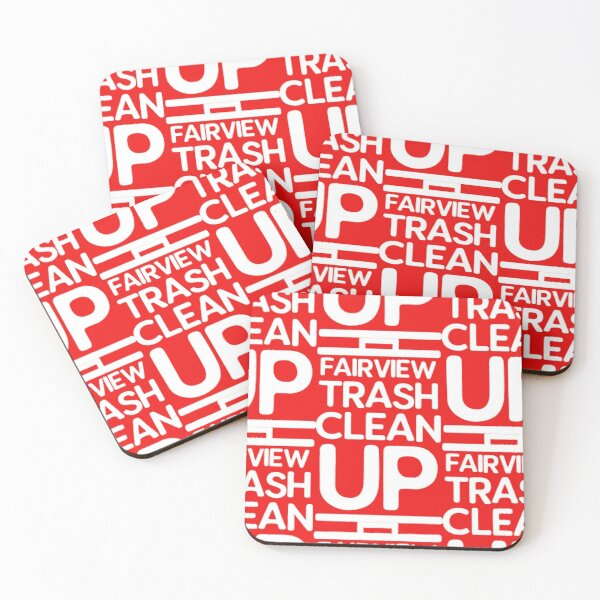 Fairview Trash Cleanup Coasters (Set of 4)