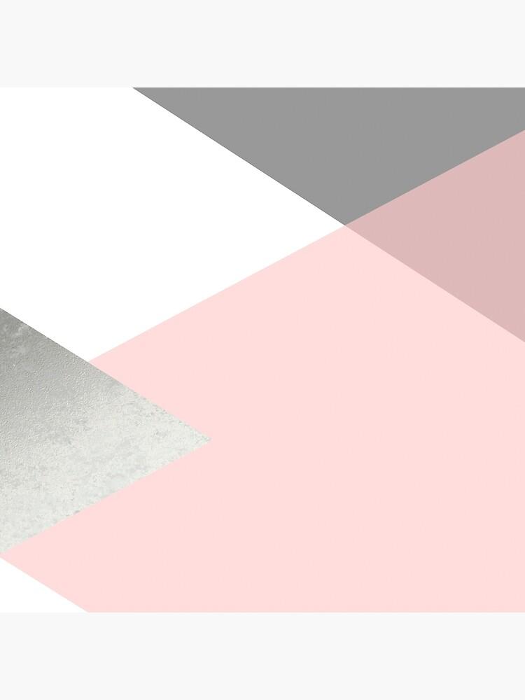 Geometrics - grey blush silver by galeswitzer