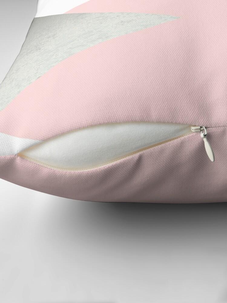 Alternate view of Geometrics - grey blush silver Throw Pillow