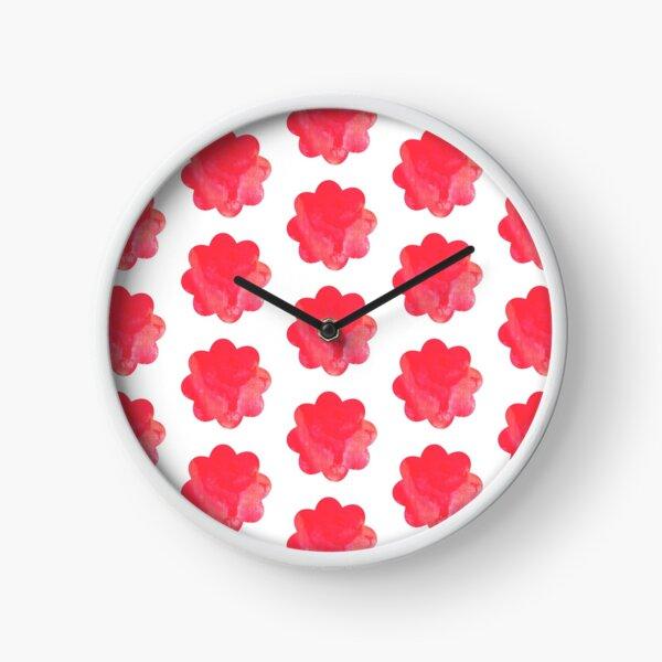 Faded Pink Flower Maze Clock