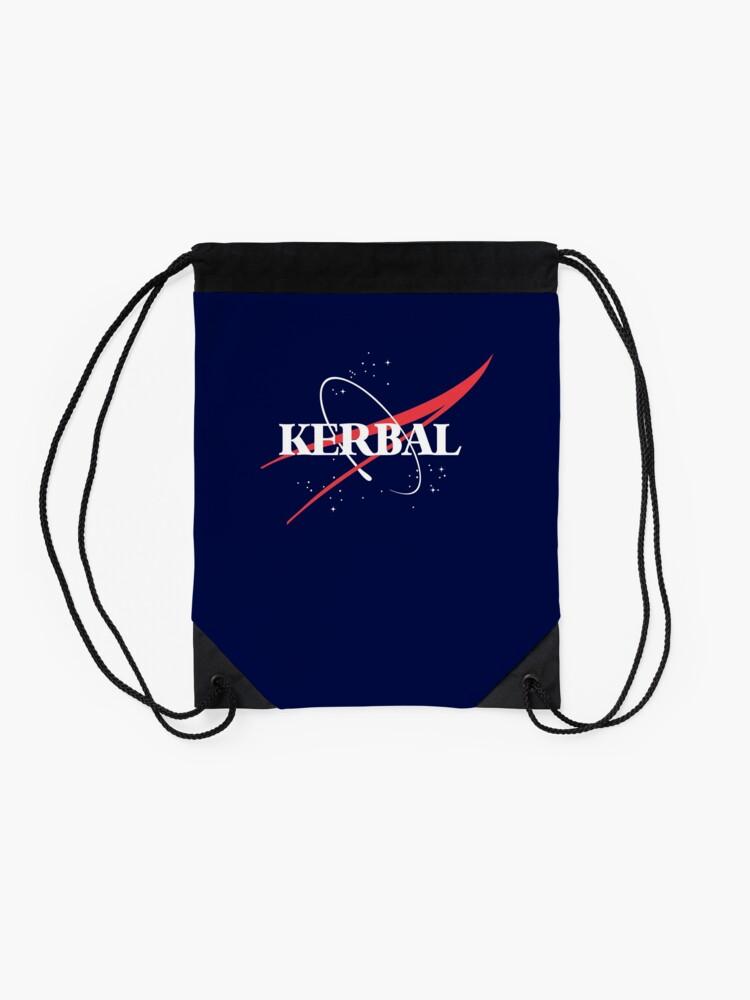 Alternate view of Kerbal Space Program Hoodie Drawstring Bag