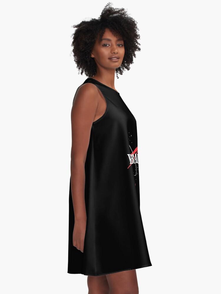 Alternate view of Kerbal Space Program Hoodie A-Line Dress