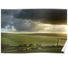Storm Clouds Over South Downs Poster