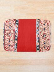 Khayamiya Egyptian Tent Decoration Print  Bath Mat
