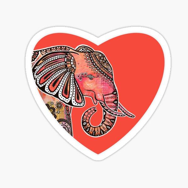 """Ajani""   Wild African Elephant Sticker"