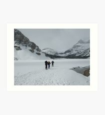 The start of a long trek, Bow Lake, Canada Art Print