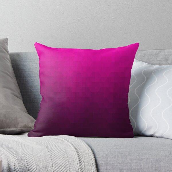 Hexagonal Overlay - Magenta Throw Pillow