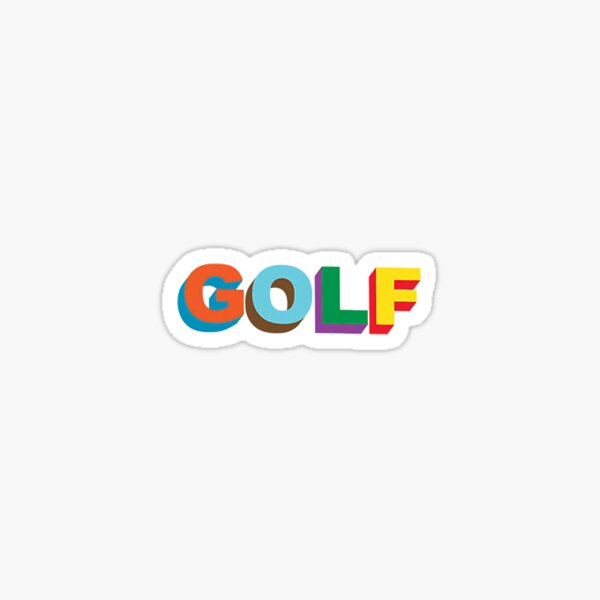 Color block GOLF logo artwork  Sticker