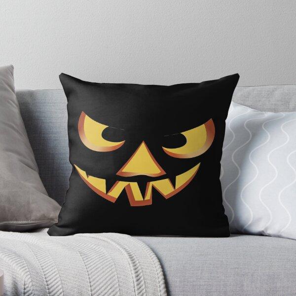 Pumpkin face for Halloween 3 Throw Pillow