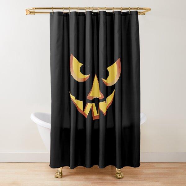 Kürbisgesicht für Halloween 3 Duschvorhang