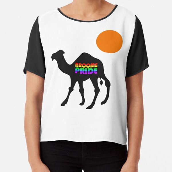 Broome Pride Safari - Black Camel Chiffon Top