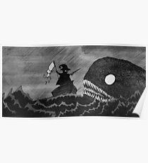 Tailor vs Sea Monster Poster