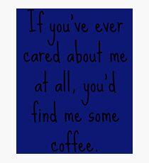 Gail's Coffee Photographic Print