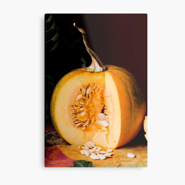 Happy Thanksgiving Pumpkin Metal Print