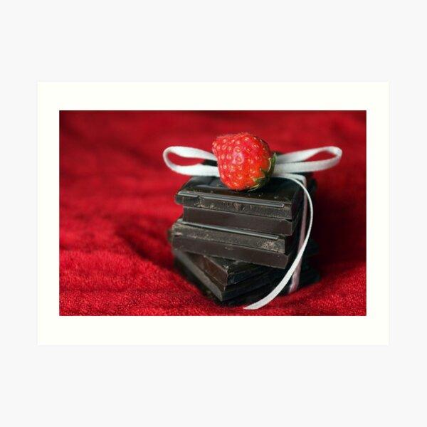Dark Chocolate Love Art Print