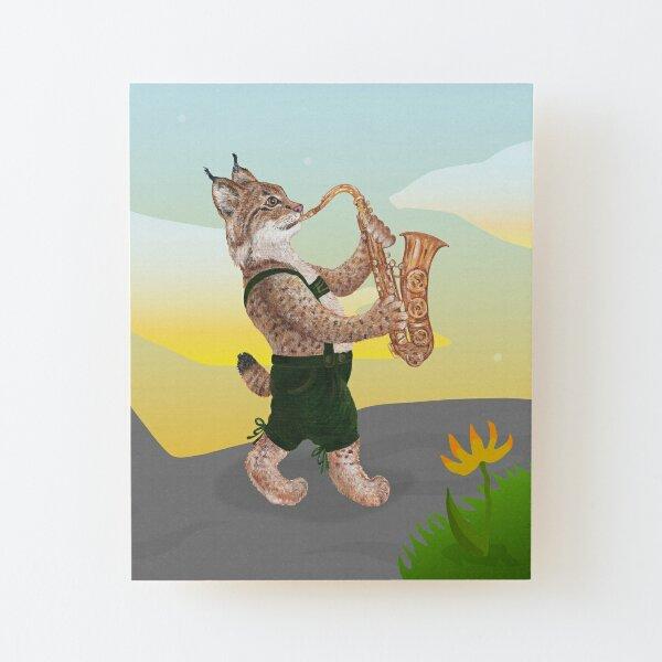 The Musical Bobcat Wood Mounted Print