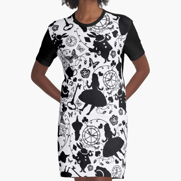 Alice in Wonderland Graphic T-Shirt Dress